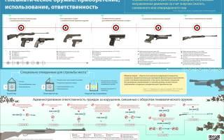 Регистрация пневматического оружия в россии