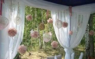 Свадьба на даче идеи