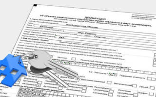 Декларация о характеристиках объекта недвижимости кто сдает?