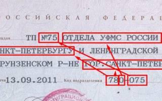 Код подразделения овд марьинский парк города москвы 25 08 2003