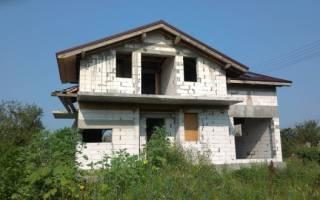 Продать недостроенный частный дом